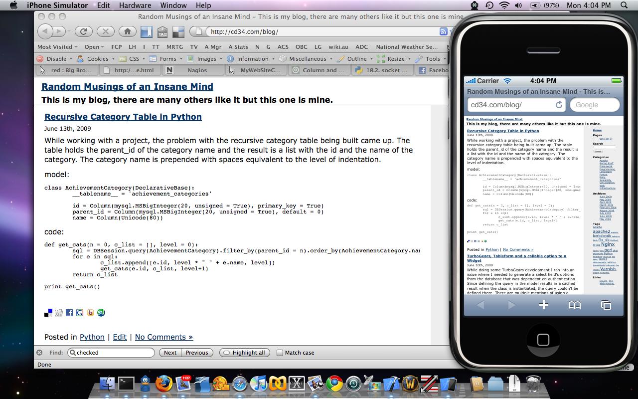 IPhone SDK Emulator
