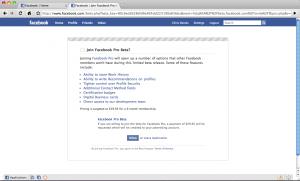 facebook pro beta
